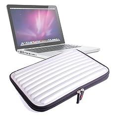 DURAGADGET Shock & Water Resistant Silver Memory Foam Laptop Case For Apple 13-inch MacBook Air