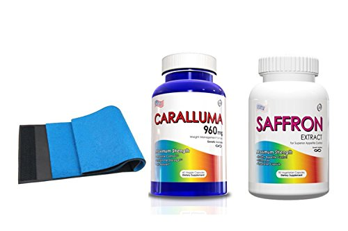 Weight Loss Kits-Saffron Extract & Caralluma, 30 Day Supply w/ Free Belly FatBurner Belt
