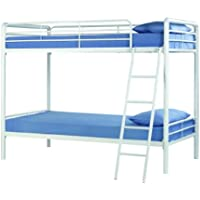 DHP Twin Over Twin Metal Bunk Bed (White)
