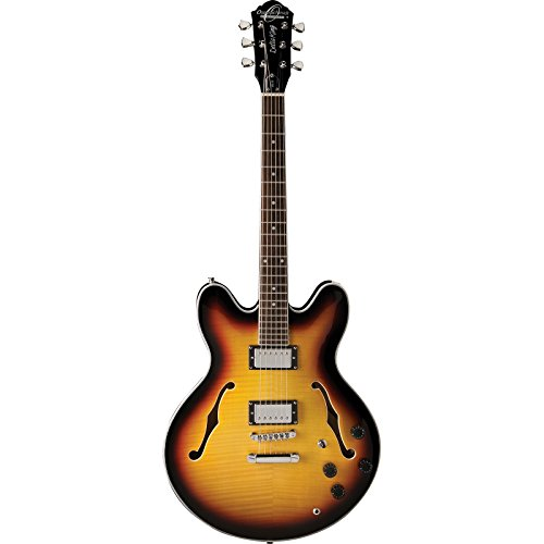 Washburn Oscar Schmidt OE30 Semi-Hollow Body Electric Guitar - Tobacco Sunburst (Semi Hollow Electric Guitar compare prices)