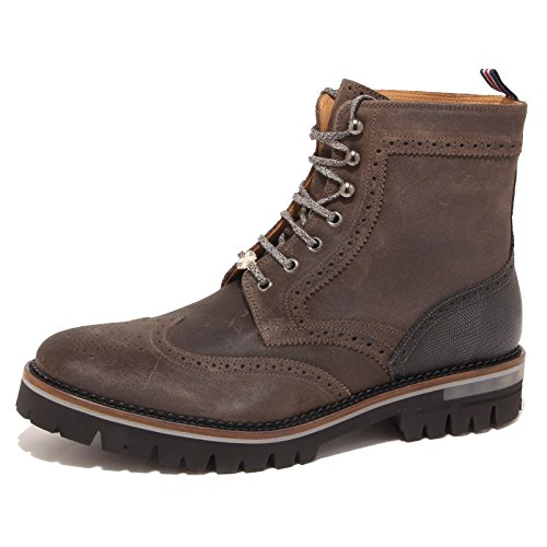 0830P stivaletto uomo BRIMARTS SCOTLAND PIOMBO marrone shoe boot men [45]