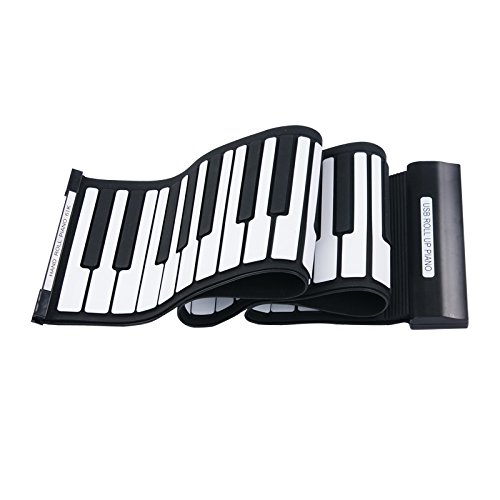 The Cheapest Generic Electronic Keyboard Piano Flexible 61 Keys Roll Up Soft New Color Silve
