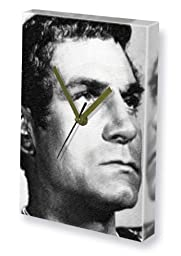 LAURENCE OLIVIER - Canvas Clock (LARGE A3 - Signed by the Artist) #js001