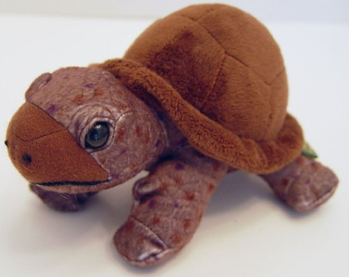 "Wild Republic Brown Box Turtle Plush 9"" Long - 1"