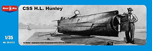 ***Confederate submarine CSS H.L. Hunle 1/35 MICRO-MIR 35-013 (1 35 Submarine compare prices)