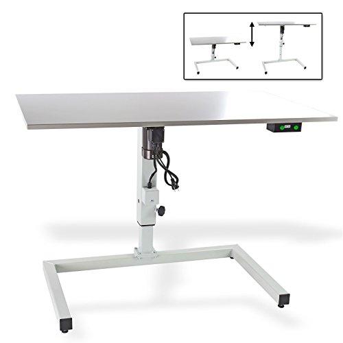 DEMA-Hhenverstellbarer-Tisch-120x68-cm-grau-E-Antrieb
