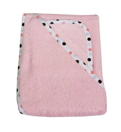 American Baby Company 100% Organic Cotton Terry Hooded Towel Set, Pink front-962774