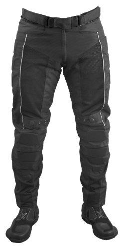 Roleff Racewear 4804 Pantalon Moto Textile/Mesh, Noir, L