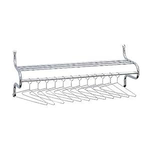 Safco 36-Inch W Shelf Rack with Hangers