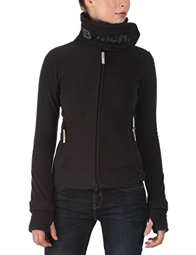 Bench - Giacca in pile a collo alto da donna, Nero (Jet Black_BK014-GY165), XS