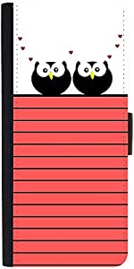 Snoogg Love Owl Birds Designer Protective Flip Case Cover For Apple Iphone 5/5S