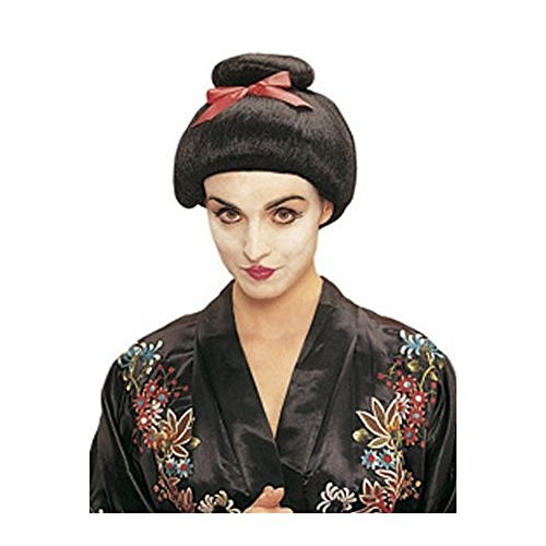 Women's Black Geisha Girl Costume Wig
