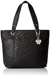 Butterflies Women's Handbag (Black) (BNS 0593BK)