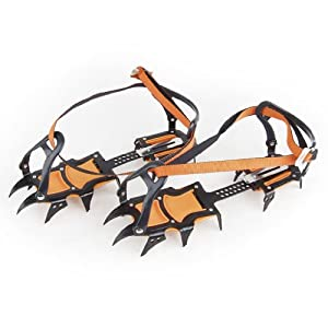 12-Teeth Ice Snow Boot Shoe Covers Spike Cleats Crampons Gripper Climbing Walking by Generic