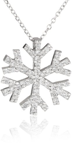 "Kc Designs ""Trinkets"" 14K White Gold And Diamond Snowflake Pendant Necklace"