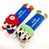 Mario & Luigi Plush Seat Belt Cover Shoulder Pad Cushion (2 pcs)