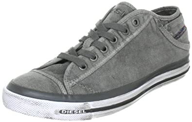 Diesel Men's Exposure Low I Sneaker,Gunmetal,13 M US