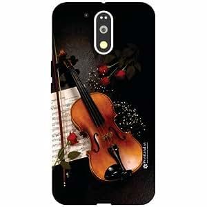 Motorola Moto G4 Plus Designer Back Cover - Silicon Violin Printed Cases