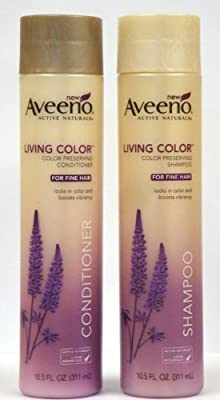 Best Cheap Deal for Aveeno Living Color, Color Preserving Duo Set Shampoo & Conditioner for Fine Hair, 10.5 Oz from Aveeno - Free 2 Day Shipping Available