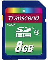 Transcend 8 Go Carte mémoire SDHC Classe 4 TS8GSDHC4