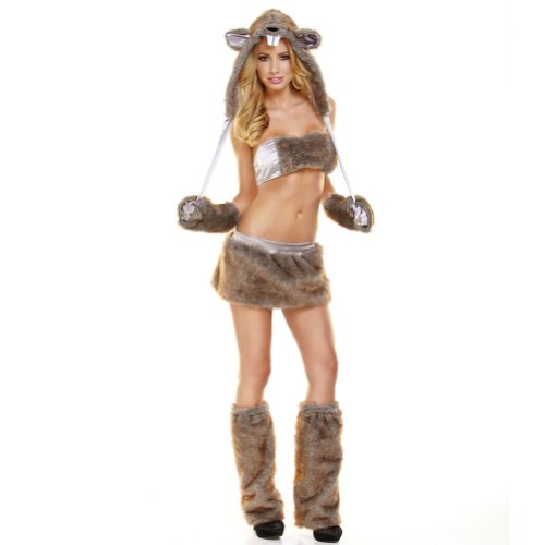 Hustler Women's 7Pc Beaver Costume