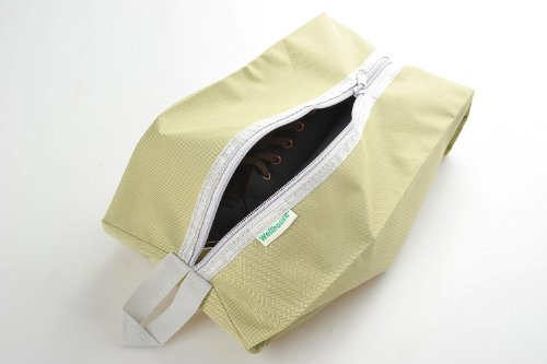 Schuhtasche / -beutel für Reisen aus einfachem Stoff, Farbe: grün, Mod. JE-00013-GREEN