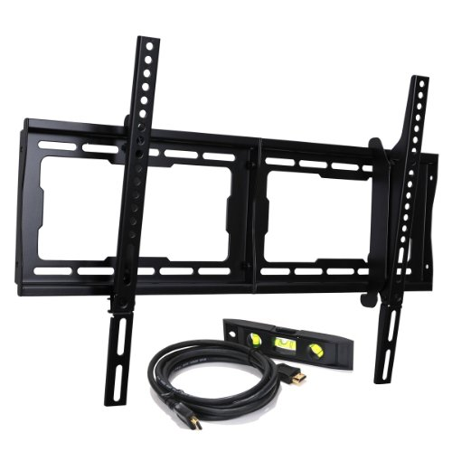 41O7leQT9mL VideoSecu Tilt TV Wall Mount Bracket for Most 23  65 LCD LED Plasma TV Flat Panel Screen with VESA 200x100 to 600x400mm, Free HDMI Cable and Magnetic Bubble Level BBM