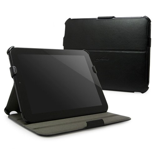 BoxWave HP TouchPad Case - BoxWave Nero Leather HP TouchPad Book Jacket (Slim Synthetic Leather Folio Case w/ Multi-Angle Stand)