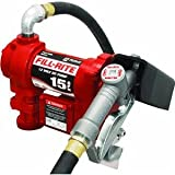 Fill-Rite FR1210G Fuel Transfer Pump, Telescoping Suction Pipe, 12' Delivery Hose, Manual Release Nozzle - 12 Volt, 15 GPM