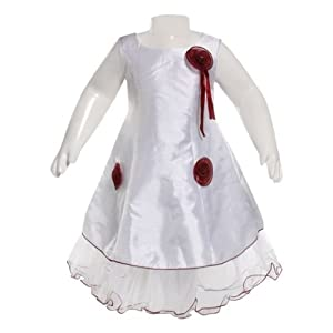 Party Frock - Flower with Ribbon 8 - 10 Years