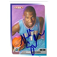 Kirk Snyder Autographed Hand Signed Basketball Card (New Orleans Hornets) 2006 Topps...