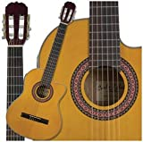 Carlo Robelli C3905EQ Nylon String Acoustic Electric Guitar (Natural Amber)