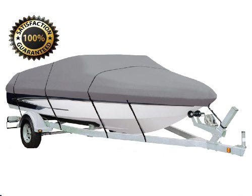 SUPER QUALITY TRAILERABLE BOAT COVER SIZE: 17'-19' Center Console Boat with a Beam Width up to 98