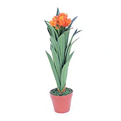 @home by Nilkamal Orange Bunch Decorative Plants