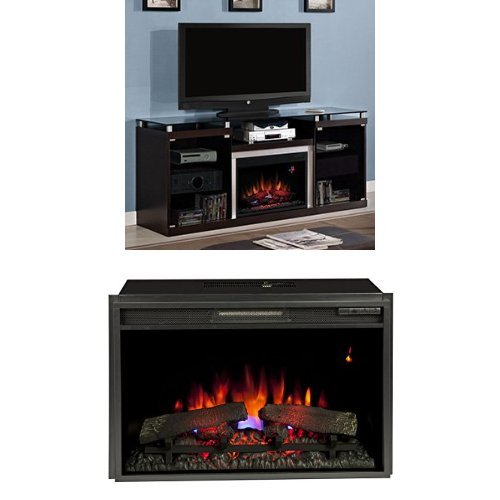 "Complete Set Albright Media Mantel With 26"" Spectrafire Plus With Safer Plug"