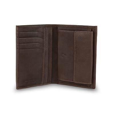 Portafoglio in pelle da uomo con apertura a libro in nappa for Portafoglio uomo amazon
