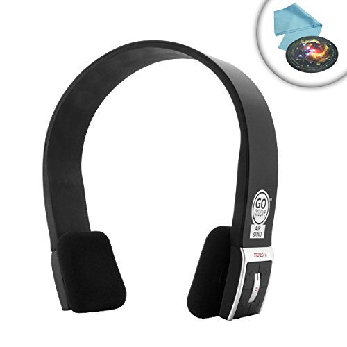 Gogroove Airband Bluetooth Stereo Headphones W/ Headset Microphone + A2Dp & Avrcp Profiles For Wireless Music Streaming And Hands-Free Calling - Works With Acer C720 Chromebook , Asus Transformer Book T100Ta-C1-Gr And Many More !