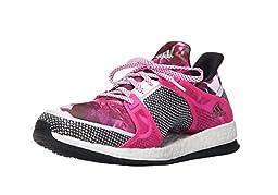 adidas Women\'s Pure Boost X TR W Training Shoe, White/Black/Shock Pink, 8.5 M US