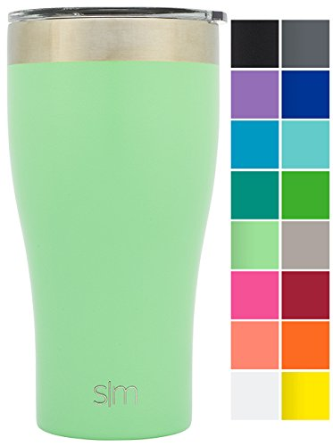 Simple Modern Tumbler Vacuum Insulated 24oz Slim Cruiser with Lid - Double Walled Stainless Steel Travel Mug - Sweat Free Coffee Cup - Powder Coated Flask - Mint Green (Insulated Tea Tumbler compare prices)