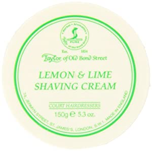 Taylor of Old Bond Street Lemon - Lime Shaving Cream Jar, 5.3-Ounce