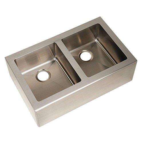 Pegasus AP2033 Apron Double Bowl Kitchen Sink, Large (Stainless Steel)
