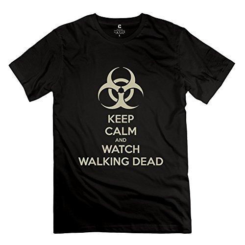 Zhitian Men'S Kc Watch Walking Dead T-Shirt - Xl Black
