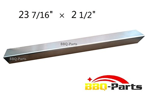 bbq-parts SPD171 Stainless Steel Heat Plate, Heat Shield, Heat Tent, Burner Cover, Vaporizor Bar, and Flavorizer Bar Replacement for Select Gas Grill Models by Charbroil, Kenmore and Others | VRB7 (23 7/16