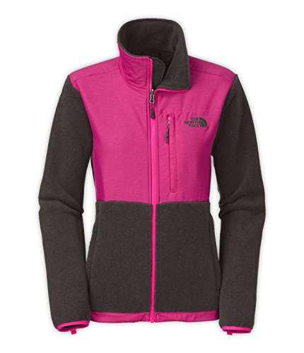 The North Face Denali Jacket - Women's (Small, R.Tnf Dark Grey Heather/Glo Pink)