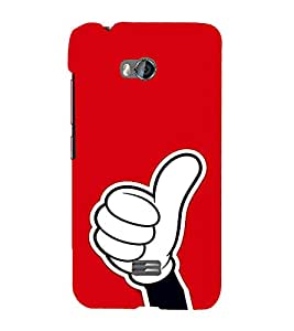EPICCASE Thumbs Up Mobile Back Case Cover For Micromax Q336 (Designer Case)