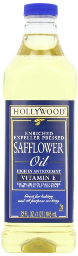 Hollywood Safflower Oil, 32 Ounce Bottles (Pack of 3)