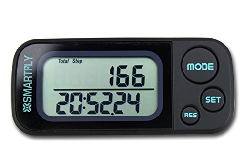 SMARTFLY 30 Days Memory Two Rows Large Scale Display Pedometer With USB