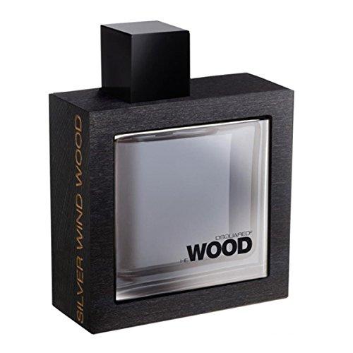 Dsquared, Eau de Toilette da uomo con vaporizzatore, Silver Wind Wood, 50 ml