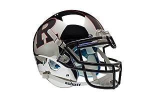 NCAA Rutgers Scarlet Knights Authentic XP Football Helmet, Chrome Black by Schutt