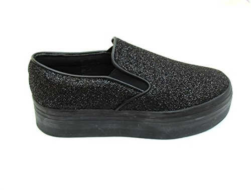 Jeffrey Campbell slip on glitter black (39)